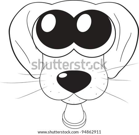 cartoon cute puppy dog big eyes stock vector 2018 94862911 rh shutterstock com cute cartoon dogs with big eyes Dogs with Big Eyes