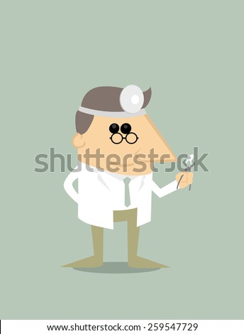 Cartoon dentist - stock vector