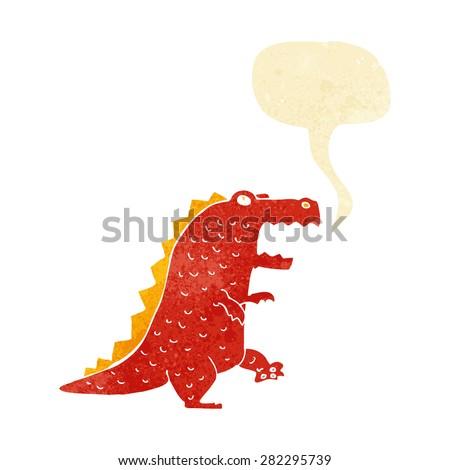 cartoon dinosaur - stock vector