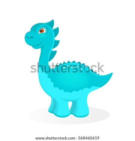 Cartoon dinosaur character - stock vector