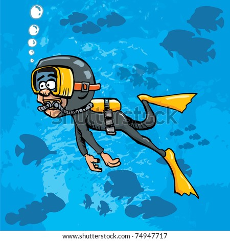 Diver Cartoon