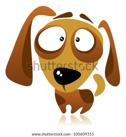 Cartoon dog isolated on a white background. - stock vector
