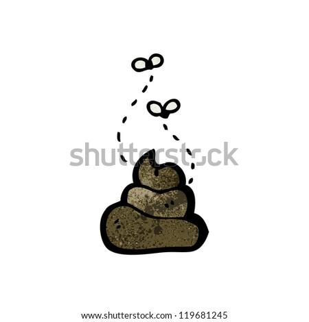 cartoon dog poo - stock vector