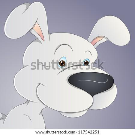 Cartoon Dog Vector - stock vector