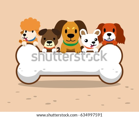 Cartoon dogs and big bone sign