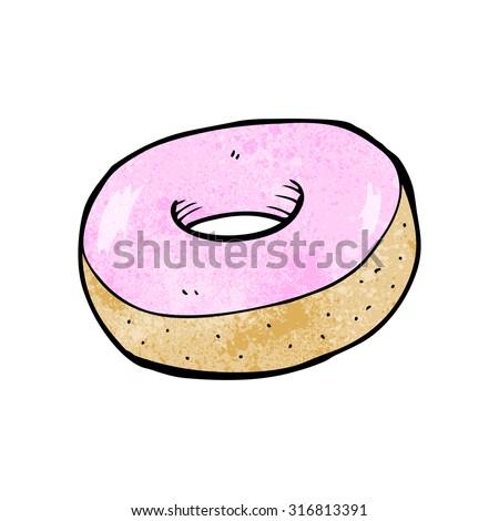 cartoon donut - stock vector