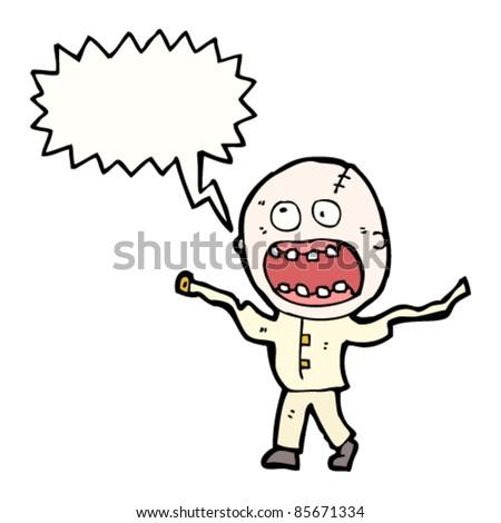 cartoon doodle madman - stock vector