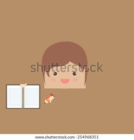 cartoon doodle man rectangle of business, vector illustration - stock vector