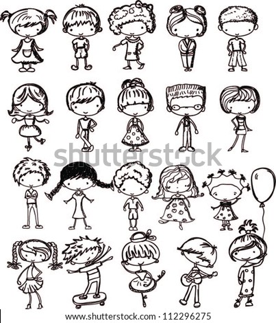 how to draw cartoon kids. gallery cartoon drawings of children ...