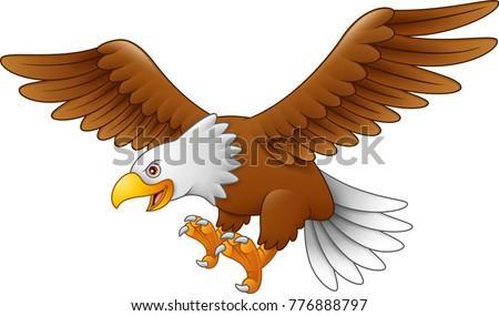 Cartoon Eagle Flying Stock Vector 776888797 - Shutterstock  Baby