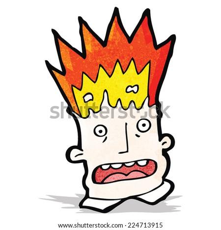 cartoon exploding head - stock vector