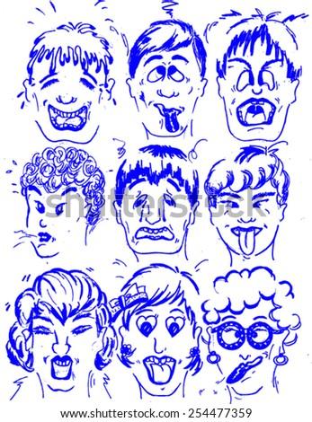 cartoon expression - stock vector