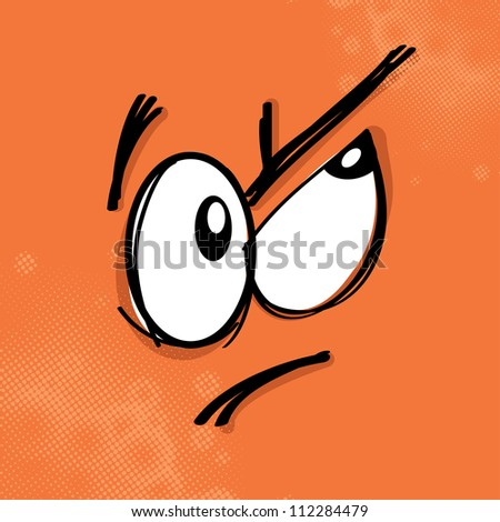 Cartoon expression on colored background, eps10 vector illustration - stock vector