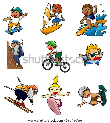 cartoon Extreme sport icon - stock vector