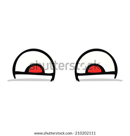 cartoon eyes - stock vector