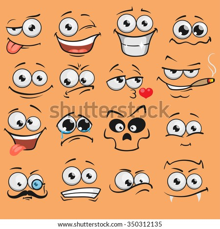 cartoon faces how to draw faces features and expressions pdf