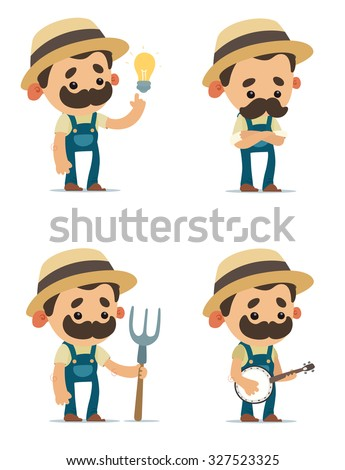 Cartoon Farmers - stock vector