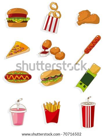cartoon fast food icon - stock vector