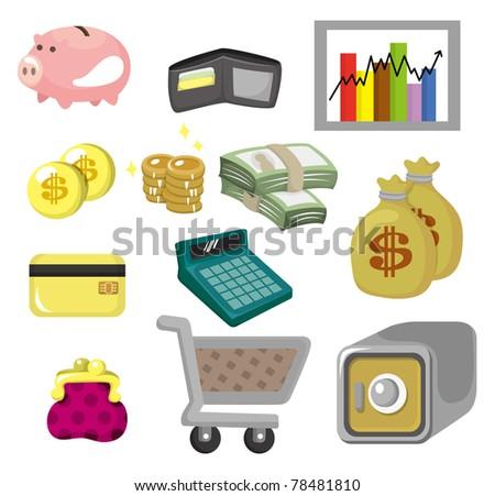 cartoon Finance & Money Icon set - stock vector