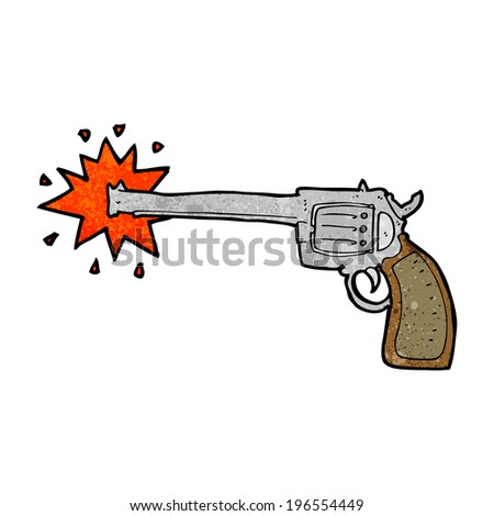 cartoon firing gun