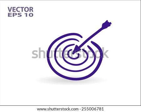 cartoon Flat icon of aim - stock vector