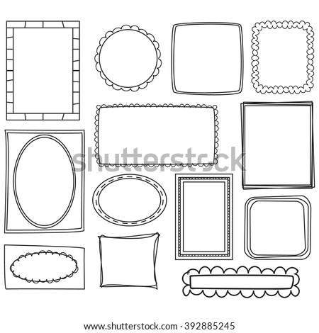 Cartoon Frames Vectors - stock vector