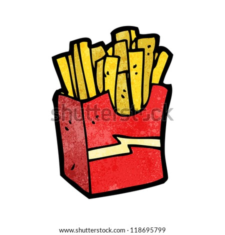 cartoon fries