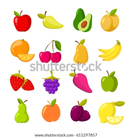 cartoon fruits vector clipart collection fruit stock vector rh shutterstock com vector clipart collections Vector Freeware
