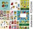 cartoon Gardening card - stock vector