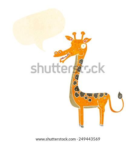 cartoon giraffe - stock vector