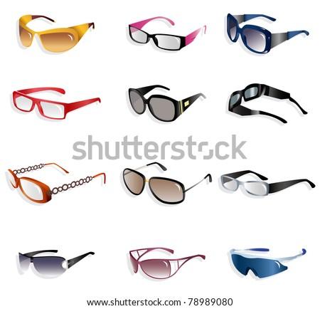 cartoon Glasses icon - stock vector