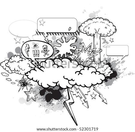 Cartoon graffiti - stock vector