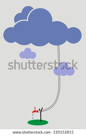 cartoon .gray cloud, cloudy weather - vector illustration