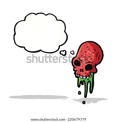cartoon gross skull - stock vector