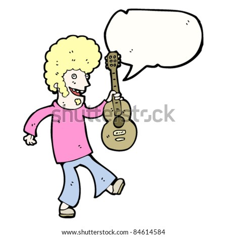 cartoon guitar player