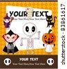 Cartoon Halloween card - stock vector