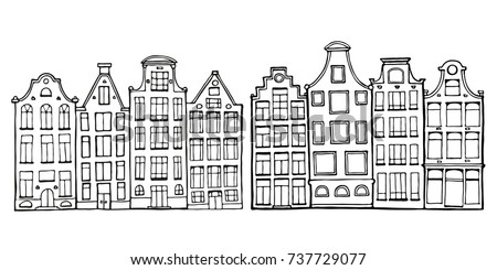 Cartoon Hand Drawn Ink Houses Doodle Stock Vector HD Royalty Free