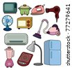 cartoon home appliance icon - stock photo