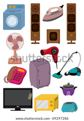 cartoon home Appliance icon - stock vector