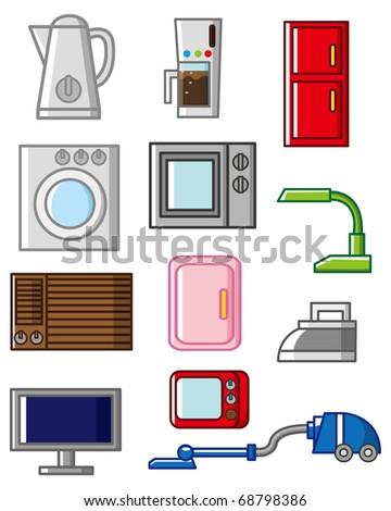 cartoon home appliances icon - stock vector