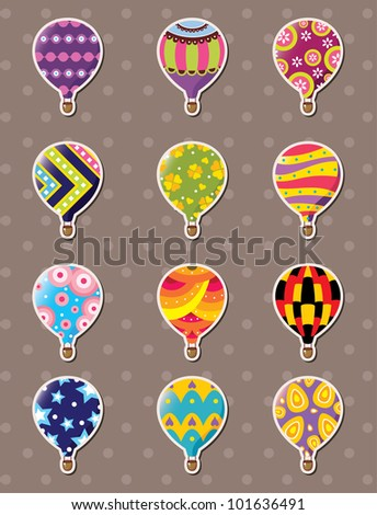 cartoon hot air balloon stickers
