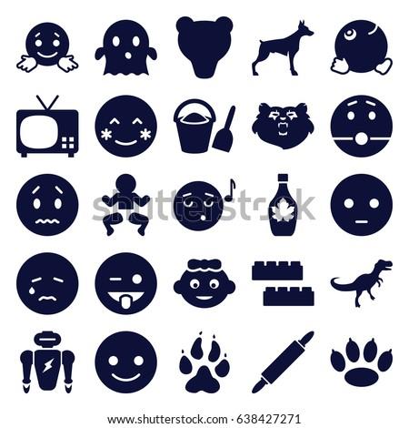 Bear Paw Emoji Blushing Cartoon Stock...