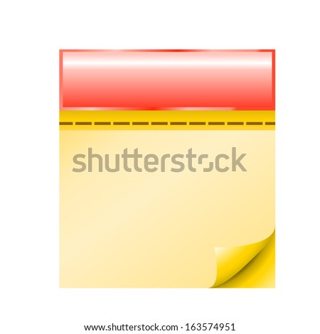 cartoon illustraion of red calendar with yellow pages view front