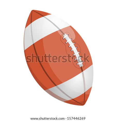 Cartoon illustration of a rugby ball - stock vector