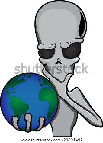 Alien Stock Vector 29890258 - Shutterstock