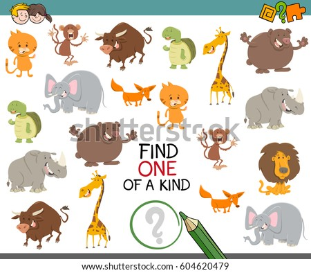 cute zoo alphabet cartoon animals isolated stock vector