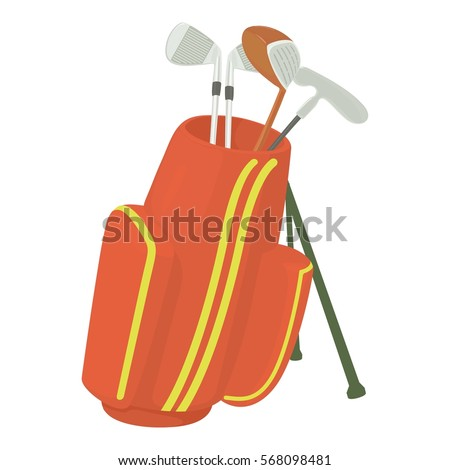 Cartoon golf bag