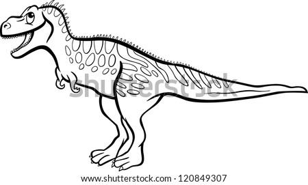 Cartoon Illustration Tarbosaurus Dinosaur Prehistoric Reptile Stock