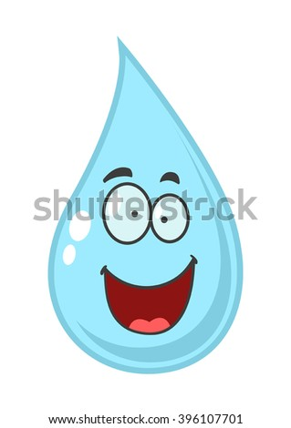Cartoon illustration of water drop