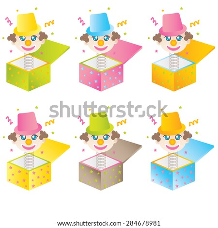 Cartoon Jack In The Bo - stock vector
